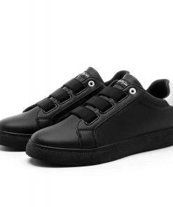 Men's Fashion Latest Design Elastic Lace Canvas Sport Shoe