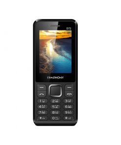 Symphony D72 Dual SIM Feature Phone with MP3 Player, Wireless FM Radio and Battery Saver