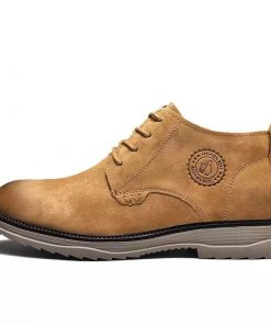 New Model Rubber Sole Lace Up Man Casual Boot Shoes