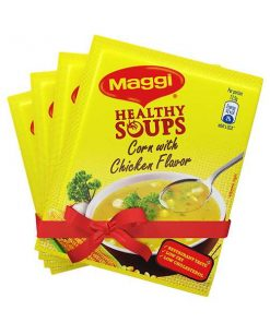 Nestlé MAGGI Healthy Soup Corn With Chicken Flavor (25 gm*4) 4 pcs