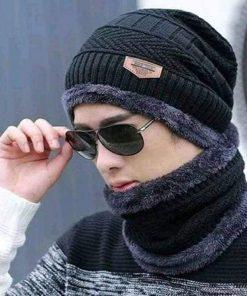 ট্রেন্ডি লুকিং ব্ল্যাক উইন্টার বিয়ানি ক্যাপ সেট