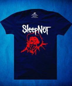 নেভি ব্লু রঙের Sleep Not প্রিন্টেড শর্ট স্লিভ কটন টি শার্ট