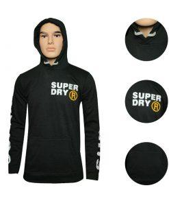 SUPER DRY R উইন্টার কালেকশন লং স্লিভ হুডি ফর জেন্টস