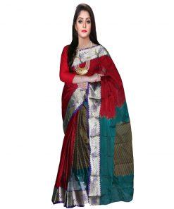 শাইনি বর্ডার ফ্লোরাল ডিজাইনার টাঙ্গাইল গ্লাস কটন শাড়ি 246