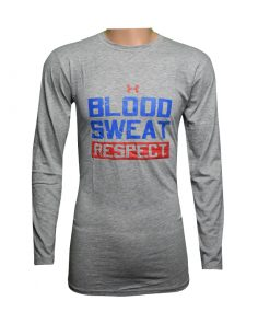 Blood Sweat Respect ধূসর ফুল হাতা টি শার্ট