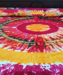 হাই কোয়ালিটি প্রোডাক্ট কিং সাইজ মাল্টি কালার বাটিকের বেড শীট