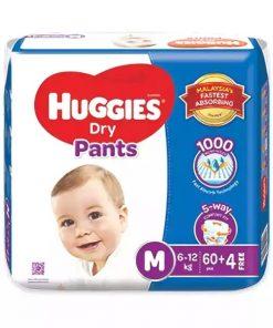 Huggies Dry Pants Baby Diaper Pant (60pcs)