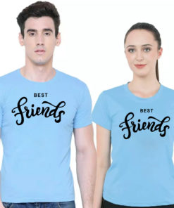 BEST Friends প্রিন্টেড কাপল ক্যাজুয়াল ওয়্যার কটন টি শার্ট 03