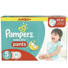Pampers Baby Dry 5 Jumbo Plus Pants (60pcs)