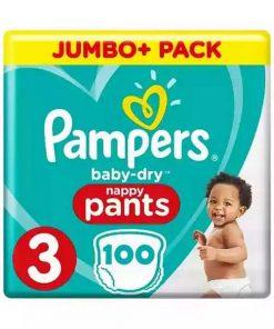 Pampers Baby Dry 3 Jumbo Plus Pants (100pcs)