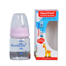 Smartcare Borosilicate Pink Glass Bottle (60ml)