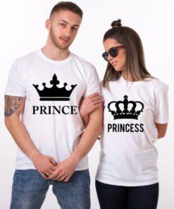 ম্যাচিং Prince এন্ড Princess উইথ ক্রাউন প্রিন্ট কটন নিটেড কাপল টি শার্ট 20