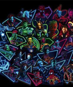 ৫০ পিস Marvel Avenger পিভিসি ওয়াটারপ্রুফ স্টিকার