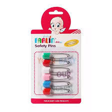 Farlin Baby Safety Pins Mixed Colour (6pcs)