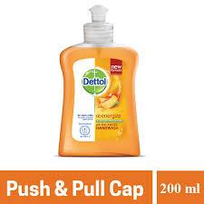 Dettol Handwash Re-Energize Bottle With Push-Pull Cap (200ml)