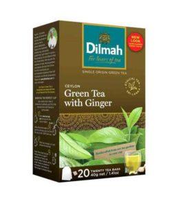 Dilmah Ceylon Green Tea With Ginger (40gm)