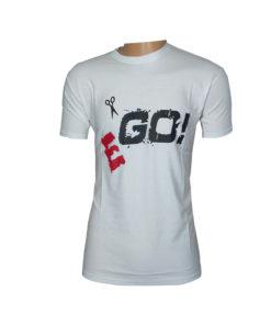EGO সাদা রঙের হাফ হাতা টি-শার্ট ফর ম্যান
