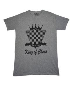 ফ্যাশনেবল King of chess অ্যাশ রঙের শর্ট স্লিভ টি শার্ট