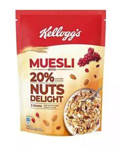Kellogg's Muesli Breakfast Cereal Nut Delight (500gm)