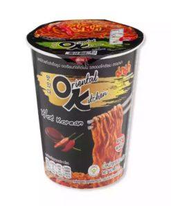 Mama Instant Cup Noodles Oriental Kitchen Hot Korean Flavour (80gm)