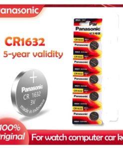 ৫ পিস প্যানাসোনিক CR1632 ৩ ভোল্ট মাল্টি ইউজ লিথিয়াম ব্যাটারি