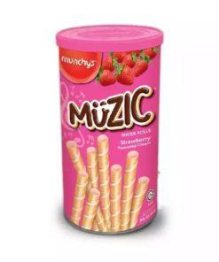 Muzic Strawberry Wafer Roll (300gm)